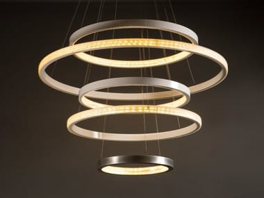 LED metal pendant lamp with dimmer AURA