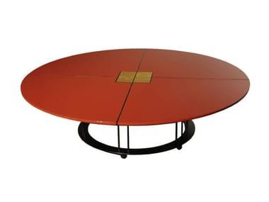 Tavolino basso laccato in legno da salotto AUREOLA | Tavolino basso