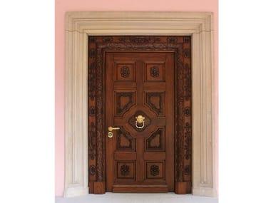 Walnut entry door AURIGA