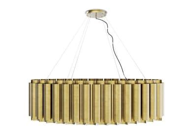 Handmade brass pendant lamp AURUM III