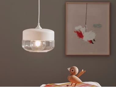 Glass pendant lamp AUSEL