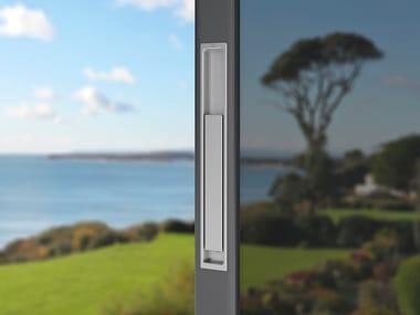 Poignée pour porte en verre encastrée en aluminium AUSTIN | Poignée de porte en aluminium