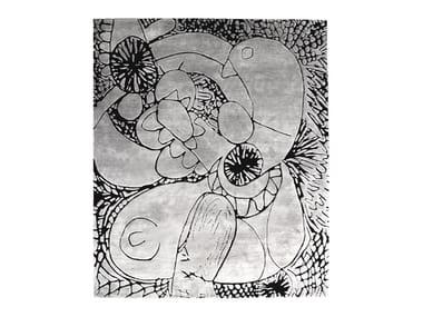 Rectangular wool rug AUTOMATIC DRAWING