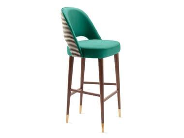 High fabric stool with back AVA | Stool