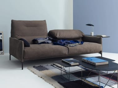 3 seater leather sofa with headrest AVALANCHE | Leather sofa