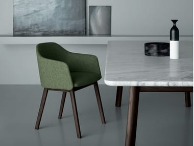 Upholstered chair with armrests AVANA | Chair with armrests