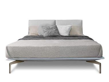 Fabric double bed with upholstered headboard AVANT-APRÈS | Bed
