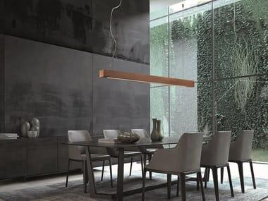 Profilo per illuminazione lineare da soffitto in legno AVENUE