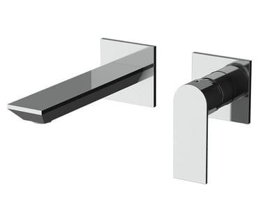 Miscelatore per lavabo a 2 fori a muro monocomando AVENUE | Miscelatore per lavabo a 2 fori