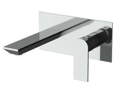 Miscelatore per lavabo a muro monocomando con piastra AVENUE | Miscelatore per lavabo con piastra
