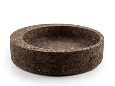 Cork serving bowl / pin tray AVOCADO