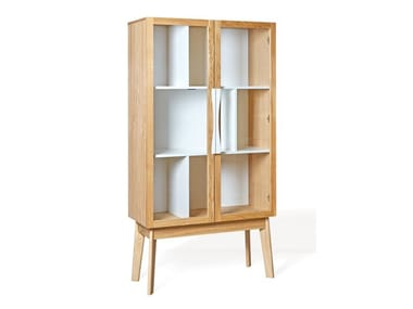 Wood and glass display cabinet AVON | Display cabinet