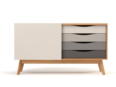 Lacquered wooden sideboard with drawers AVON | Sideboard