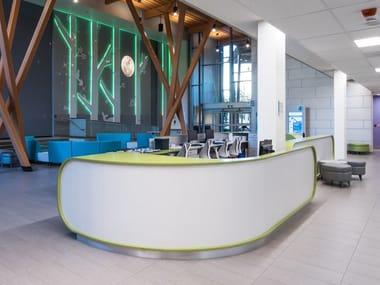 Solid Surface Reception desk AVONITE | Reception desk