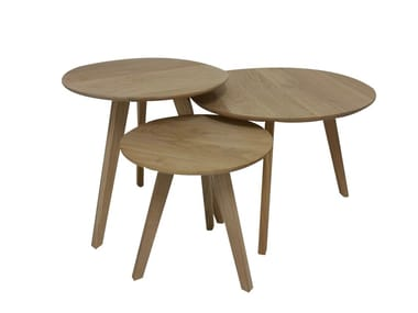 Round wooden coffee table AXIS | Coffee table