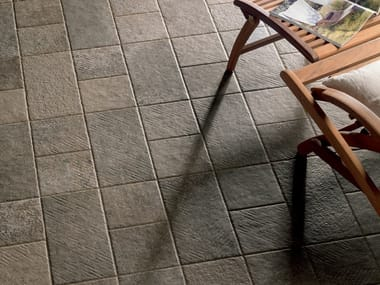 Outdoor floor tiles with stone effect AYERS ROCK