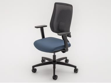 Ergonomic fabric office chair with 5-Spoke base with castors AYLA
