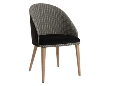 Upholstered fabric easy chair AZEL