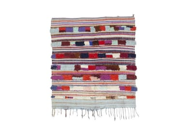 Long pile wool and cotton rug AZILAL TAA1178BE