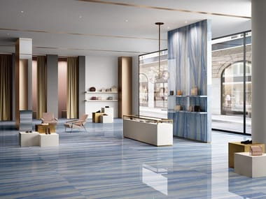 Porcelain stoneware wall/floor tiles with marble effect AZUL MACAUBAS