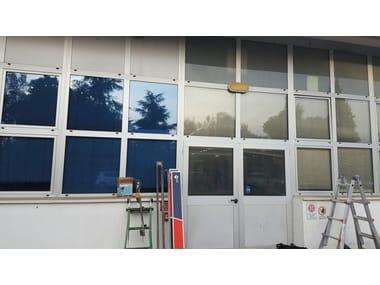 Pellicola per vetri a controllo solare antigraffio adesiva AZULITE 35 XTRA | Pellicola per vetri a controllo solare