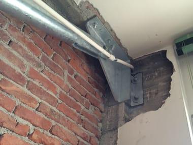 Anti-seismic device, insulator, dissipator Adeguamento sismico