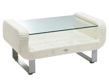 Sled base rectangular garden side table AUCKLAND   Garden side table