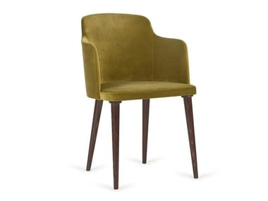 Upholstered fabric chair with armrests B-0200 LAGOM