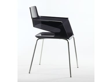 Polycarbonate chair with armrests B32 4L | Polycarbonate chair