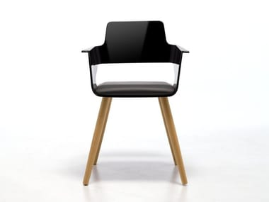 Restaurant chair with armrests B32 4WL | ABS chair