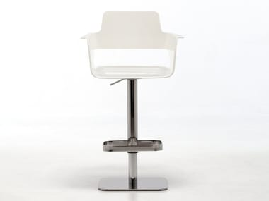 Plastic stool with gas lift with armrests B32 ST-ADJ | Height-adjustable stool