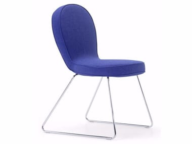 Sled base upholstered fabric chair B4 | Chair