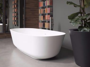 Vasca da bagno ovale in Cristalplant® BAÌA | Vasca da bagno