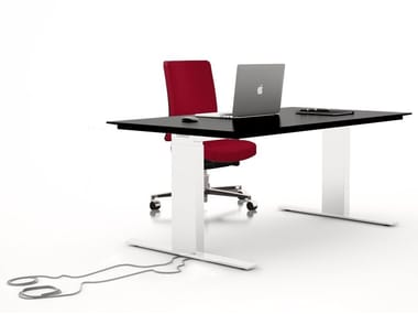 Height-adjustable lacquered MDF office desk BA4.15 | Office desk