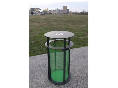 Outdoor steel litter bin BABEL   Litter bin