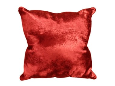 Solid-color square leather cushion BABY CALF