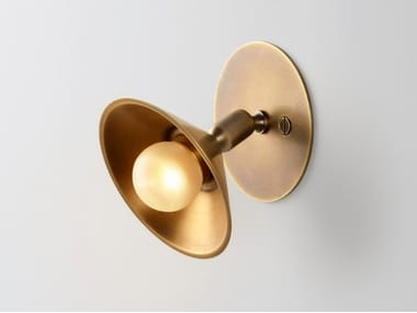 LED direct light adjustable brass wall lamp BABY WALL SWING