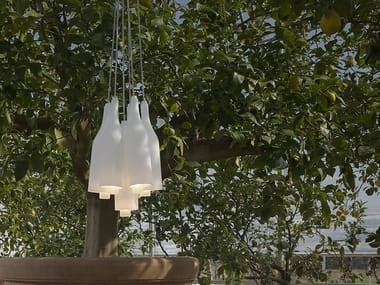 Satin glass pendant lamp BACCO | Pendant lamp