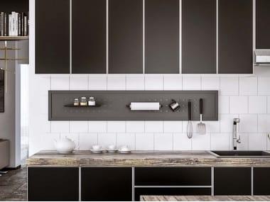 Fitted metal Kitchen backsplash BACK