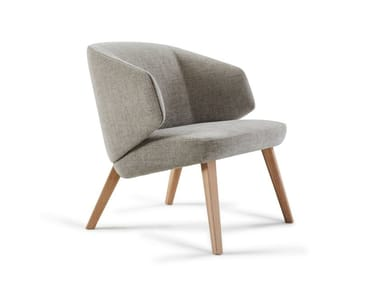 Fabric armchair with armrests BACK ME UP LOUNGE