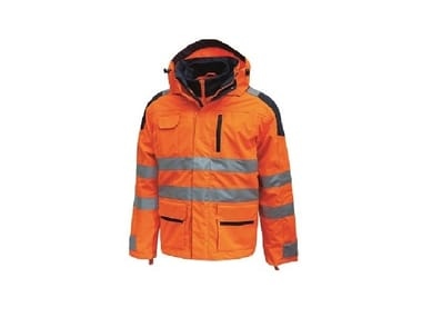 Parka alta visibilità con cappuccio BACKER ORANGE FLUO