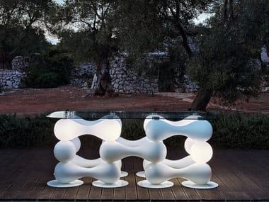 Rectangular Poleasy® table BAGIGIO | Table
