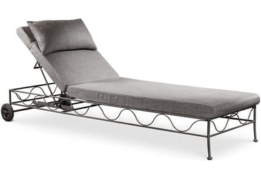 Iron garden daybed with Casters BAHAMAS | Garden daybed