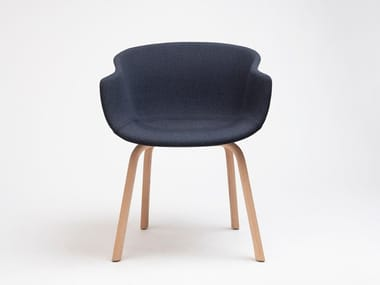 Fabric chair with armrests BAI | Chair with armrests