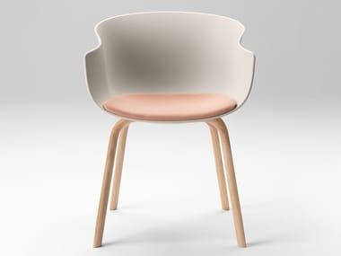 Polypropylene chair with armrests BAI WOOD