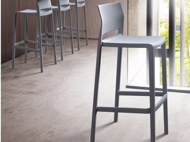 Stackable stool with footrest BAKHITA 66