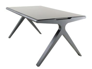 Rectangular Glass And Steel Table BALANCE | Table