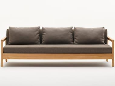 3 seater teak garden sofa BALI | 3 seater garden sofa