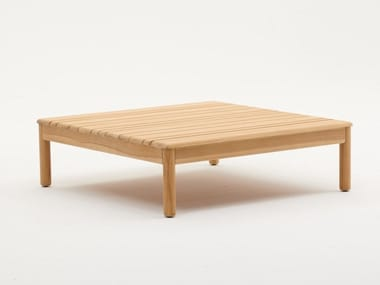 Square teak garden side table BALI | Coffee table