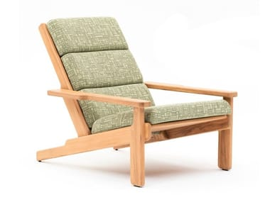 Teak deck chair with armrests BALI | Deck chair